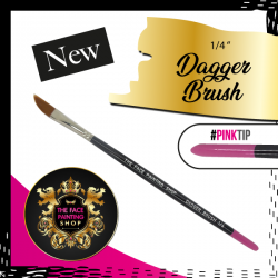 The Face Painting Shop 1-4 Inch Dagger Brush